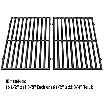 Direct store Parts DC119 Polished Porcelain Coated Cast Iron Cooking grid Replacement Kenmore,Ellipse,ProChef,Vermont Castings, Gas Grill