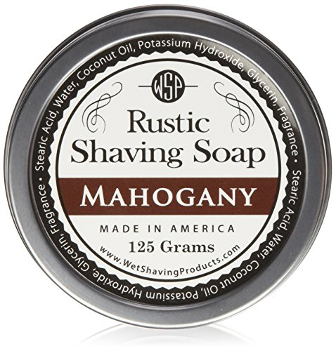 Fragrance Shave Soap (WSP Luxury Rustic Shaving Soap 4.4 Oz in Tin Artisan Made in America Using Vegan Natural Ingredients)