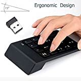 Numeric Keypad, FeBite 18 Keys Wireless USB Number Key Pads Keyboard With 2.4G Mini USB Numeric Receiver for Laptop Desktop PC Notebook (WIRELESS)
