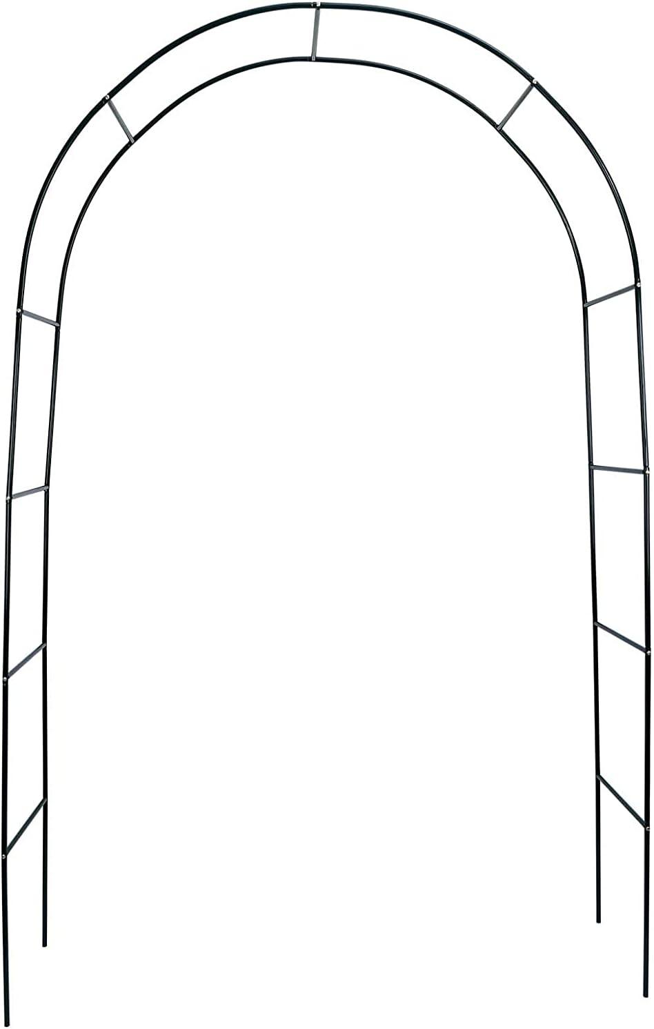 Atrusu Garden Arbors, 7.8 Ft Metal Arch with Lightweight, Pergola Arbor for Wedding, Garden, Party Decoration, Climbing Plant, Indoor Outdoor