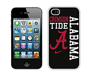 Custom Luxury Cover Case With Southeastern Conference SEC Football Alabama Crimson Tide 8 White iPhone 4S Case