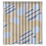 dark grey curtains uk Mikmoki Colorful Geometry Polyester Shower Curtains Width X Height / 66 X 72 Inches / W H 168 By 180 Cm For Bf Boys Bf Lover Artwork. Modern Design. Fabric Material