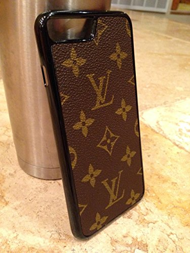 643c6281020 Handcrafted iPhone 7plus flexible cell phone case covered with re-purposed  Louis Vuitton canvas