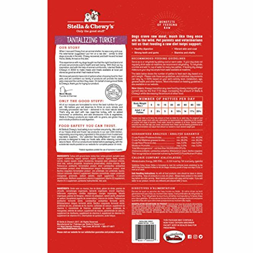 Picture of Stella & Chewy'S Freeze-Dried Raw Tantalizing Turkey Dinner Patties Grain-Free Dog Food, 14 Oz Bag