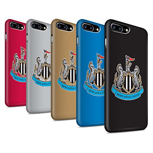 Officiel Newcastle United FC Coque / Clipser Matte Etui pour Apple iPhone 8 Plus / Pack 12pcs Design / NUFC Crête Football Collection