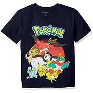 Pokemon Boys' Youth Short-Sleeved Tee Tearaway Label
