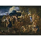 Canvas Prints Of Oil Painting ' Poussin Nicholas Bacchanal 1625 26 ' , 30 x 41 inch / 76 x 105 cm , High Quality Polyster Canvas Is For Gifts And Dining Room, Foyer And Nursery Decoration, customart