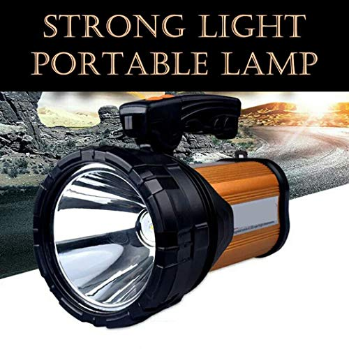 Super Bright Torch Searchlight 18650mah Handheld Portable LED Spotlight Power Bank USB Rechargeable Multi-function Flashlight Outdoor Long Shots Lamp Working Time 25H
