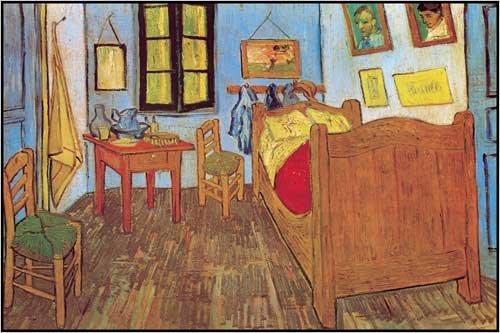 Ready to Hang Laminated Print by Vincent Van Gogh, La Chambre de Van Gogh a Arles, 36 in X 24 in.