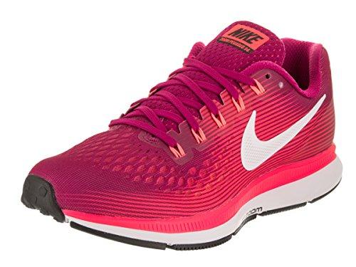 Nike Women's Air Zoom Pegasus 34 Running Shoe (White Black, 5.5)