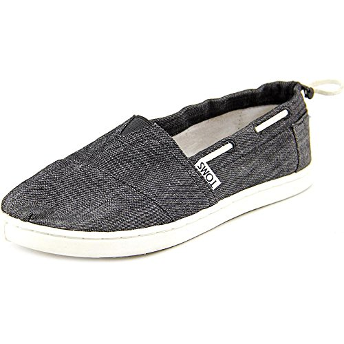 Toms - Unisex-Child Slip-On Black Chambray,