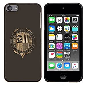 Hipster Resumen- Metal de aluminio y de plástico duro Caja del teléfono - Negro - iPod Touch 6