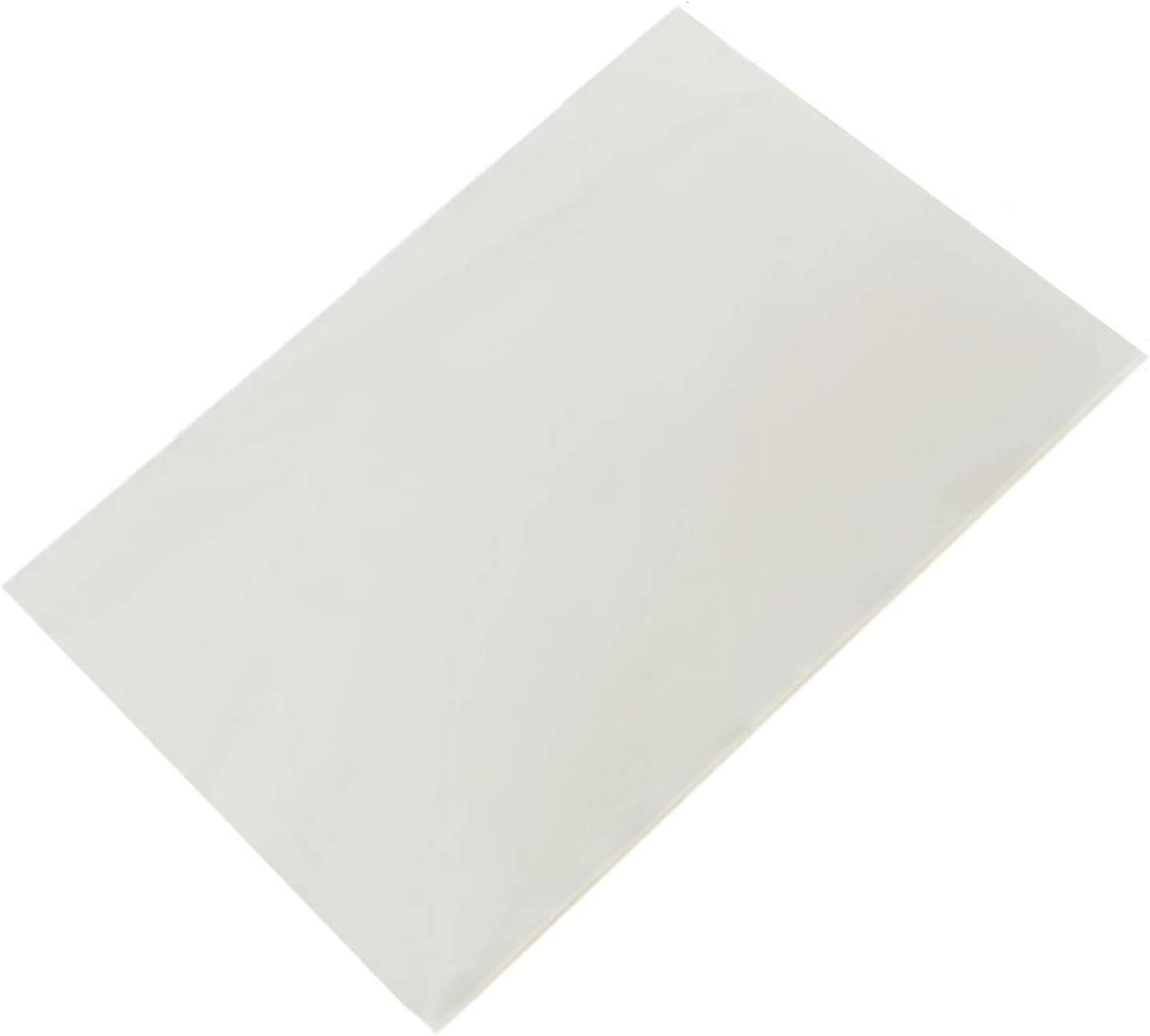 50 Count Edible Rectangle Rice and Wafer Paper,9x12.6 inches for candy packaging or food decoration