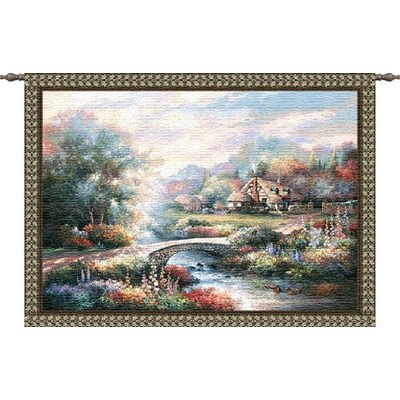 Pure Country Weavers Country Bridge Wall (English Country Prints Wallpaper)