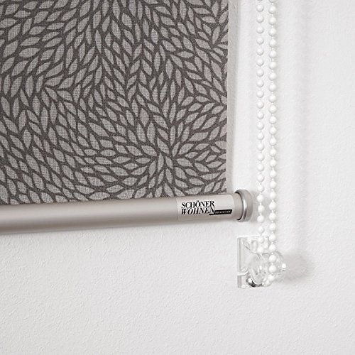 Schöner Wohnen Wohnen Wohnen Rollo Leafes lichtdurchlässig (150x190 (Gesamtbreite X Höhe in cm), grau) B01D8D767A Seitenzug- & Springrollos 5df697