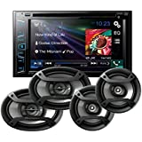 Pioneer AVH-270BT In Dash Double Din 6.2 Touchscreen CD DVD Receiver with one pair of TS-165P 6.5 and one pair of TS-695P 6x9 Car Speakers with a FREE SOTS Air Freshener