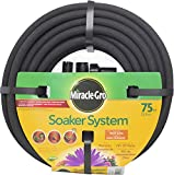 Miracle Gro MGSPA38075CC Premium Bulk Soaker Hose with EZ Connect Fittings, 3/8-Inch