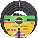 """Swan Products MGSPA38075CC Miracle-GRO Soaker System Customizable Hose with Push on Fittings, 75' x 3/8"""", Black"""