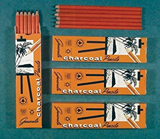 product image for General Charcoal Pencil 557-6B Box of 12