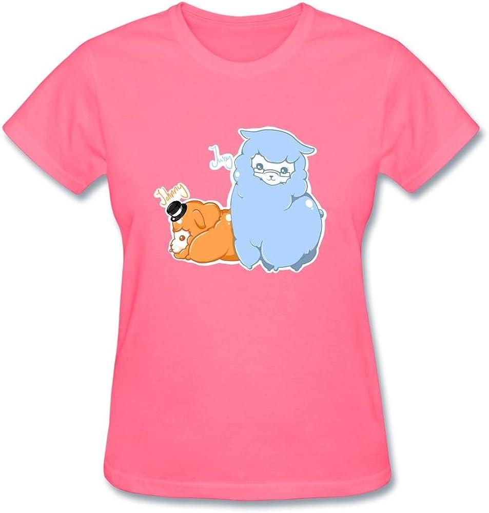 Doriis Alpaca Camiseta de Manga Corta de algodón para Mujer ...