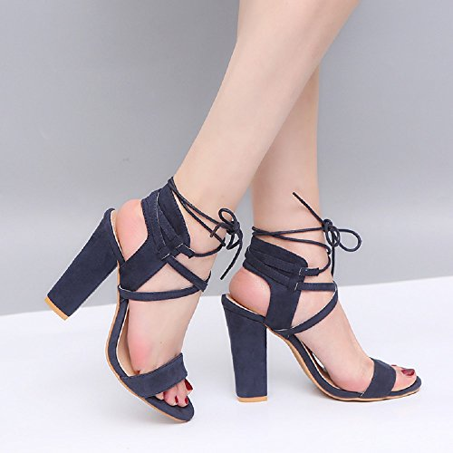 Fashion cm Heel Wedding up High Ankle Beige 1 Prom Evening Roman Brown Sandals Toe Shoes Blue Blue Party 8 Womens Black 5 5 Lace 10 Peep Army Red Strap Green qPwntw7A