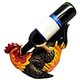 KITCHEN DECOR GIFT CHICKEN ROOSTER OIL WINE BOTTLE HOLDER FIGURINE STATUE
