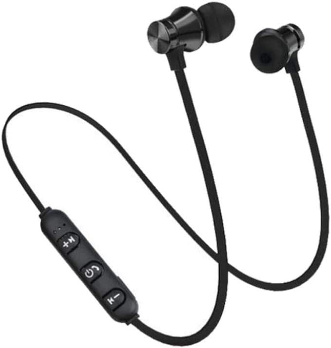 Amazon Com Sandistore Magnetic Wireless Bluetooth Earphone Headset Sports Stereo Headphone Earbuds Hands Free With Mic Black
