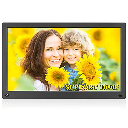Large Picture Digital Frames - MRQ 15.6 Inch Digital Photo Frame Display Photos with Background Music 1080P Video USB SD Solt Supported, 1280x800 HD Digital Picture Frame with Auto-Rotate, Motion Sensor Function, Remote Control