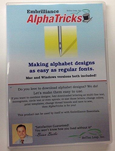 [해외](미국 배송) Embrilliance AlphaTricks Plus Essentials 콤보 레터링 자수 소프트웨어 * PLKHG484UY4691/(Ship from USA) Embrilliance AlphaTricks PLUS Essentials Combo Lettering Embroidery Software *PLKHG484UY4691