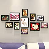 Home@Wall photo frame DIY Solid Wood Photo Frames Wall ,Creative Portfolio Photo Wall Sets Of 11 Sofa Background Frames Sets ( Color : A , Size : 11frames/13570CM )