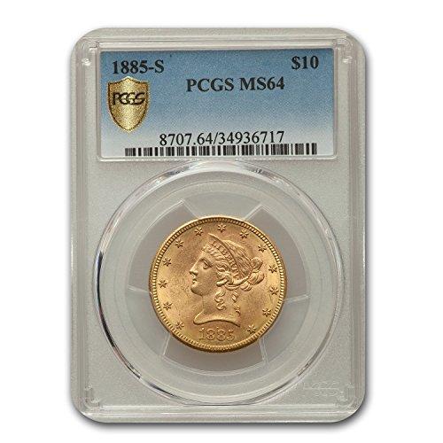 1885 S $10 Liberty Gold Eagle MS-64 PCGS G'$10 MS-64 PCGS