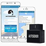 Autoseeker GPS Trackers;OBD Car GPS, Vehicle Tracking Device with No Monthly Tracking Service Charge Free APP Download for iOS/Android