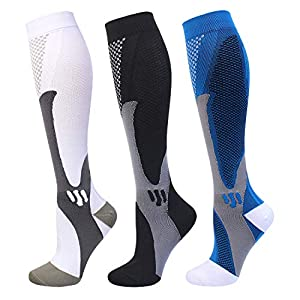Compression Socks 20-30 mmHg for Men Women Medical Nurses Athletic Travel