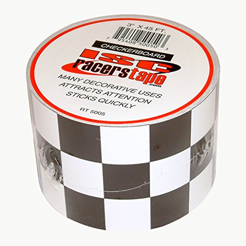 ISC Checkerboard Black and White Checkerboard Tape: 3 in. x 15 yds. (Black/White Square -