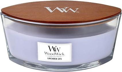 WoodWick ハースウィック Lサイズ 心地よい音を奏でる灯りと香り (ラベンダースパ)