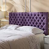 purple improvement home modern tufted important headboard
