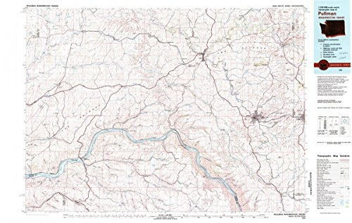 1982 Pullman, WA   USGS Historical Topographic Map   24in x 36in Fine Art Print on Heavyweight Matte Paper