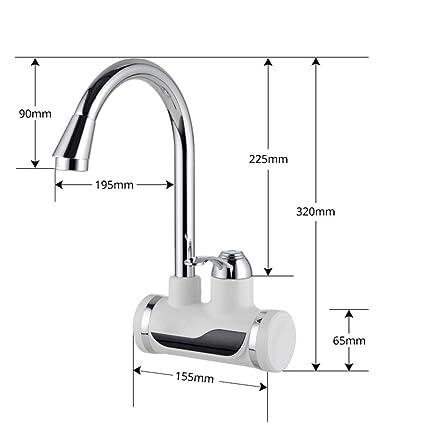 ZCYJDSG Faucet Enchufe Tankless Instant Faucet Calentador de agua Calentador de agua instantáneo Grifo de cocina