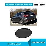 For Maserati Levante S Sport/Base Sport Sedan 2016 2017 Aftermarket Tuning Dry Carbon fiber Fuel Tank Cap Car Exterior Oil Pad Cover Kit