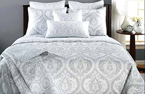 Gray Moon Sky Bedspread, Quilt Set,Queen