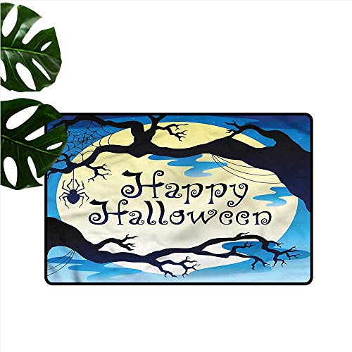 HOMEDD Modern Doormat,Halloween Spooky Night with Moon,with No-Slip Backing,35