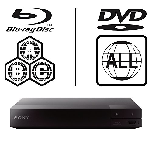 2016 SONY BDP-S3700 Built in 2.4/5.0 Ghz Wi-Fi Multi Zone Region Code Free Blu Ray - DVD - CD Player - PAL/NTSC - Worldwide Voltage 100~240V - 1 USB, 1 HDMI, 1 COAX, 1 ETHERNET Connections + 6 Feet HDMI Cable Included.