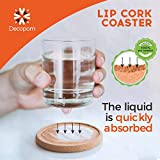 Cork Coasters with Lip for Drinks Absorbent   12