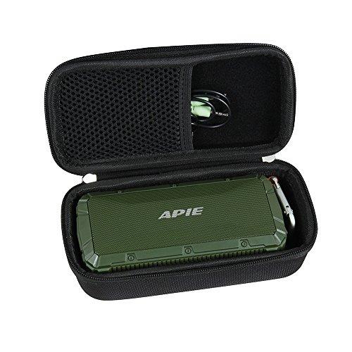Hermitshell Hard EVA Travel Case Fits APIE Portable Wireless Outdoor Bluetooth Speaker IPX6 Waterproof Dual 10W Driversf (Black)