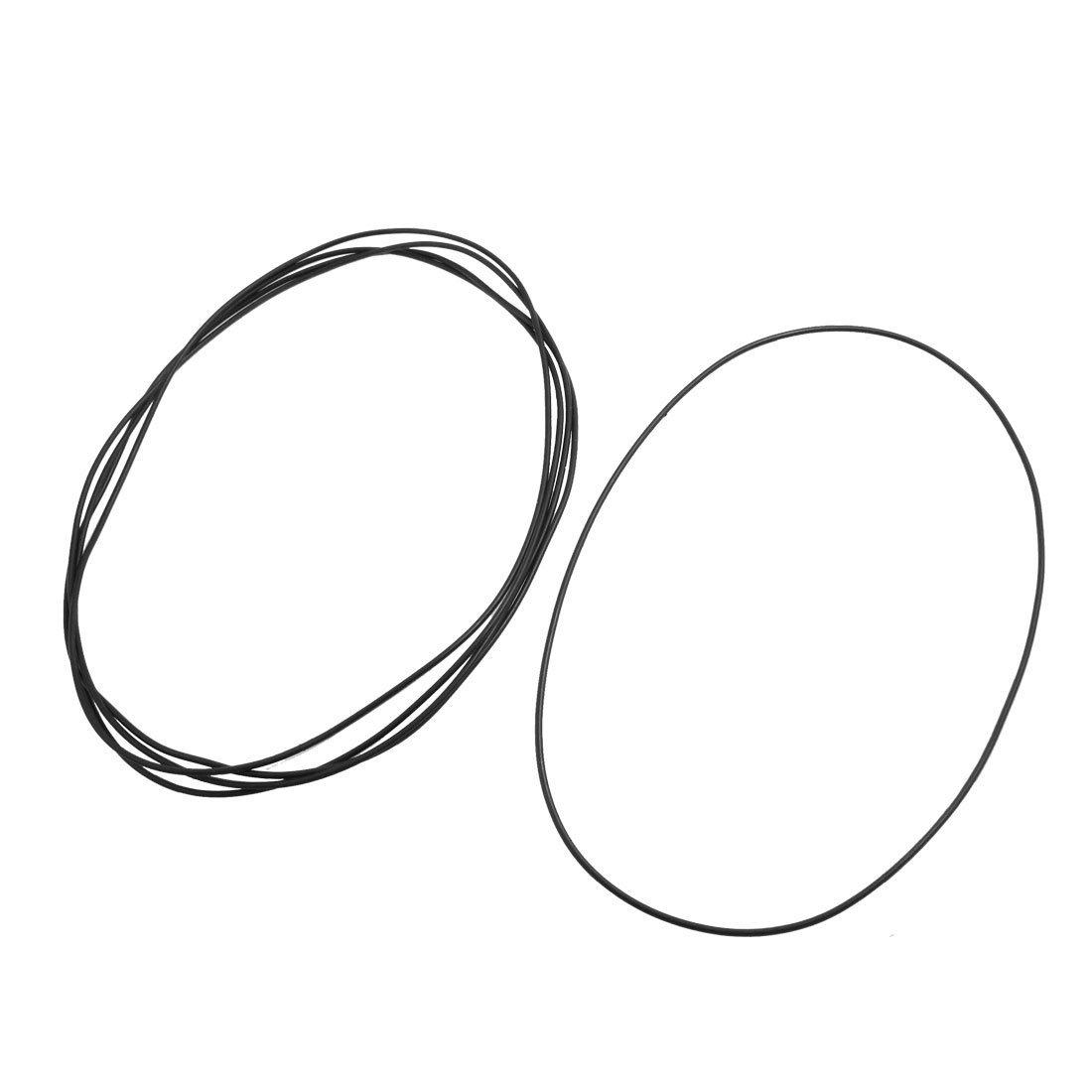 2 mm x 150 mm de goma del tipo O Sellado de juntas de anillo ojales Negro 5 x DealMux DLM-B00ARATQOY