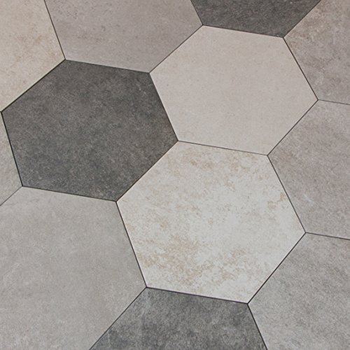 Atlas Hexagon Multicolor Cold 6 Eckige Bodenfliesen 25 X 22 Cm