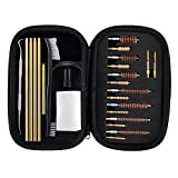 Rifle & Handgun Cleaning Kit .22.30.243.280.40.45.357/9mm/.380 Multi-Caliber Bore Brushes Brass Jags by BOOSTEADY