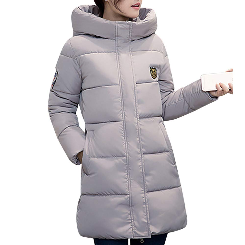 Kemilove Women's Thickened Casual Thicker Winter Slim Down Lammy Jacket Hooded Coat