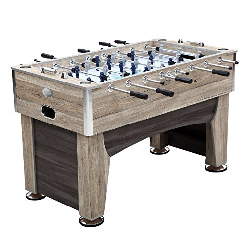 Harvil 56-Inch Beachcomber Indoor Foosball Table for Kids and Adults with Leg Levelers and Free Accessories from Harvil