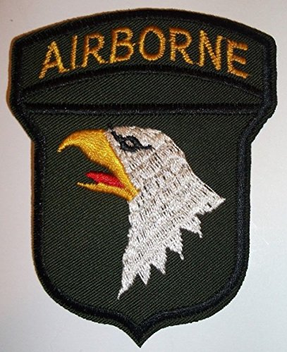 US Army Airborne Embroidered Patch~Eagle~Iron or Sew On~Military~ by Braides